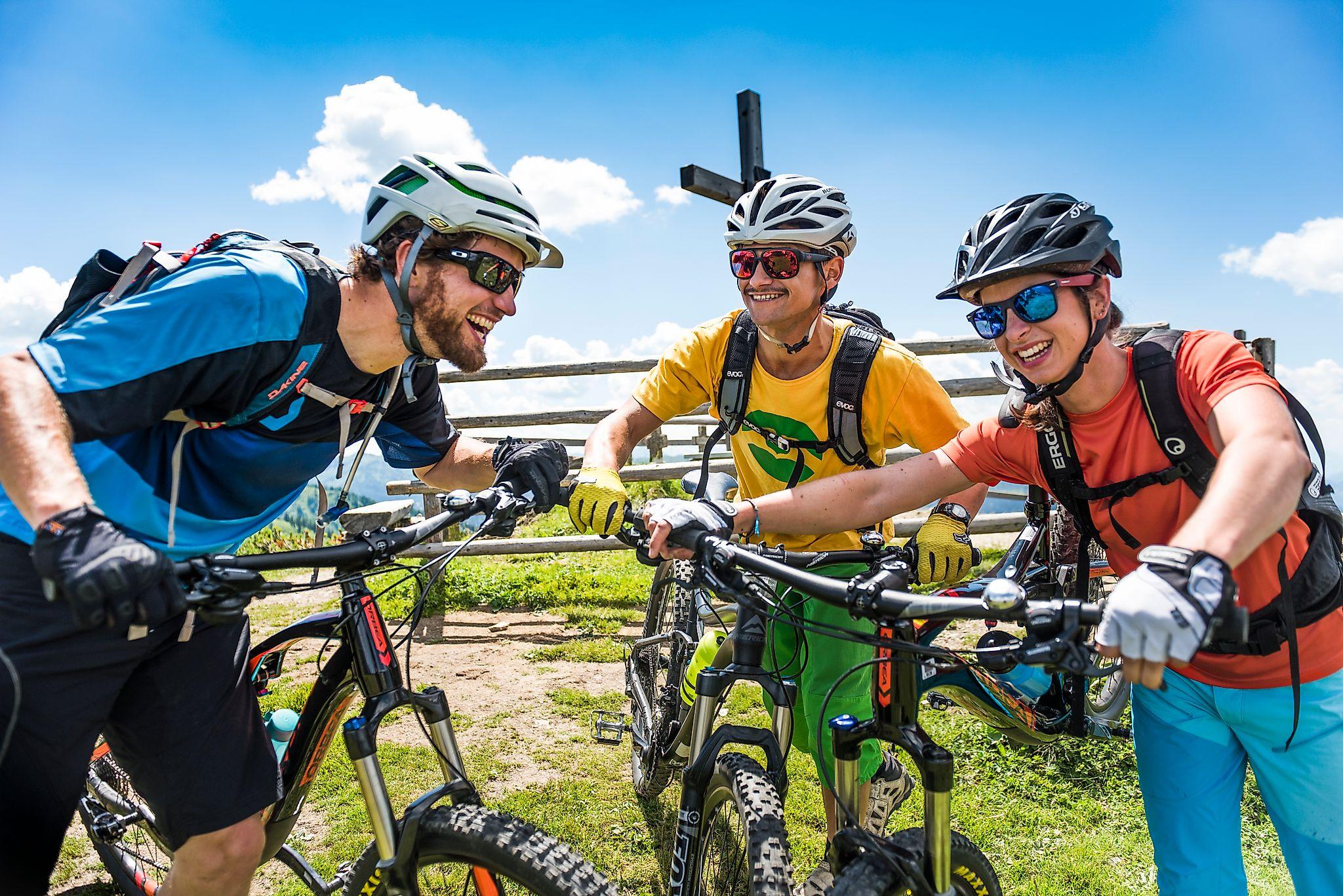 <p>Eine Mountainbiketour aufs Grießenkar steht bei vielen Bikefreunden auf der to do liste im Flachau Urlaub.</p>