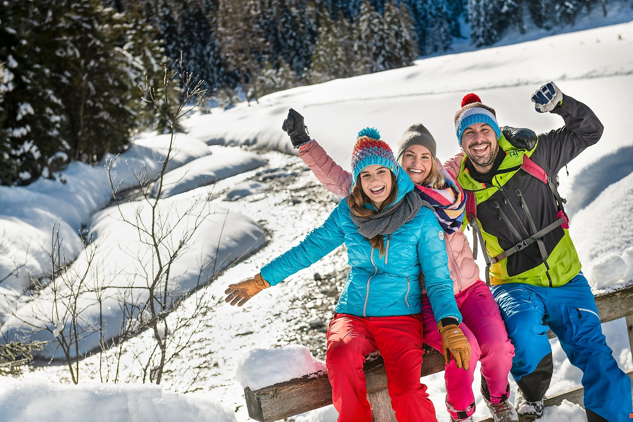 <p>Fun vacation time in nature in winter in Flachau.</p>