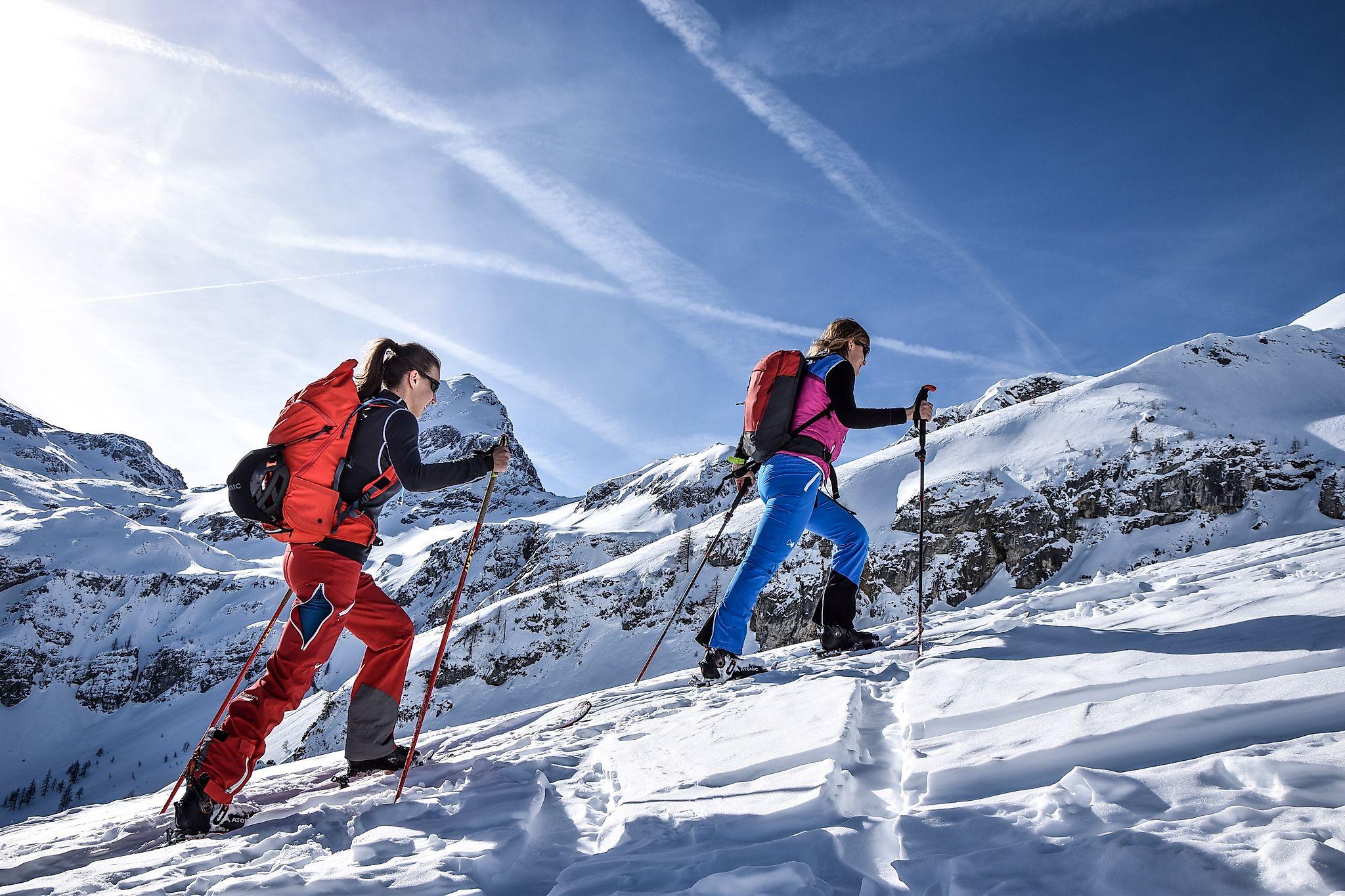 <p>Geniale Skitour aufs Liebeseck - jede Menge Abwechslung beim Aufstieg</p>