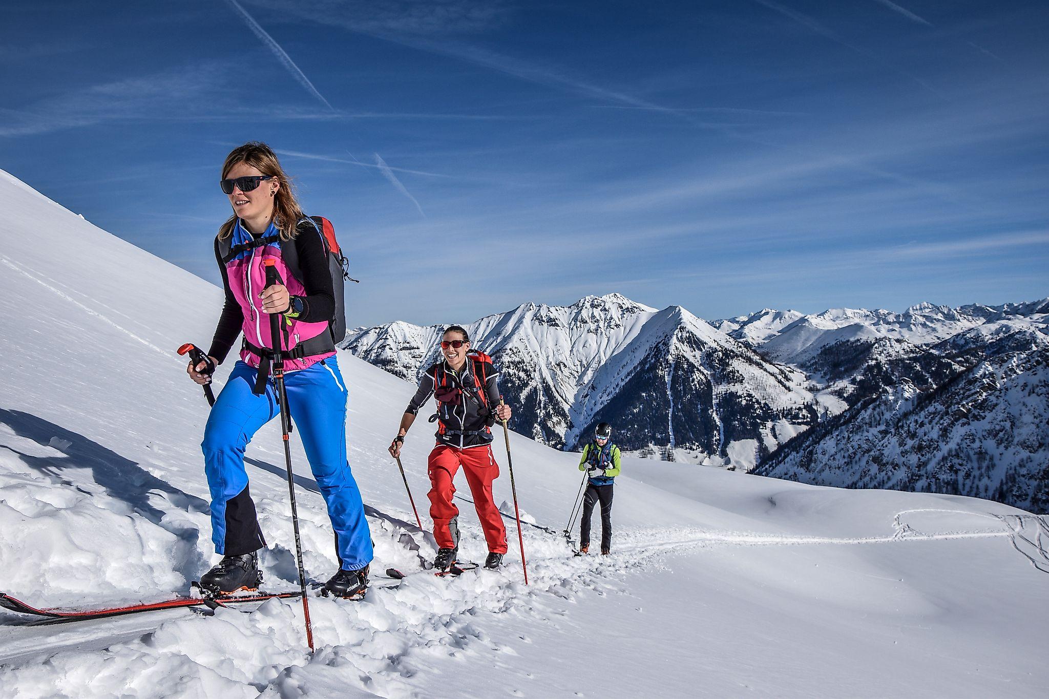 <p>Die Tour aufs Liebeseck ist eine der bekanntesten Skitourenrouten der Region Flachau</p>