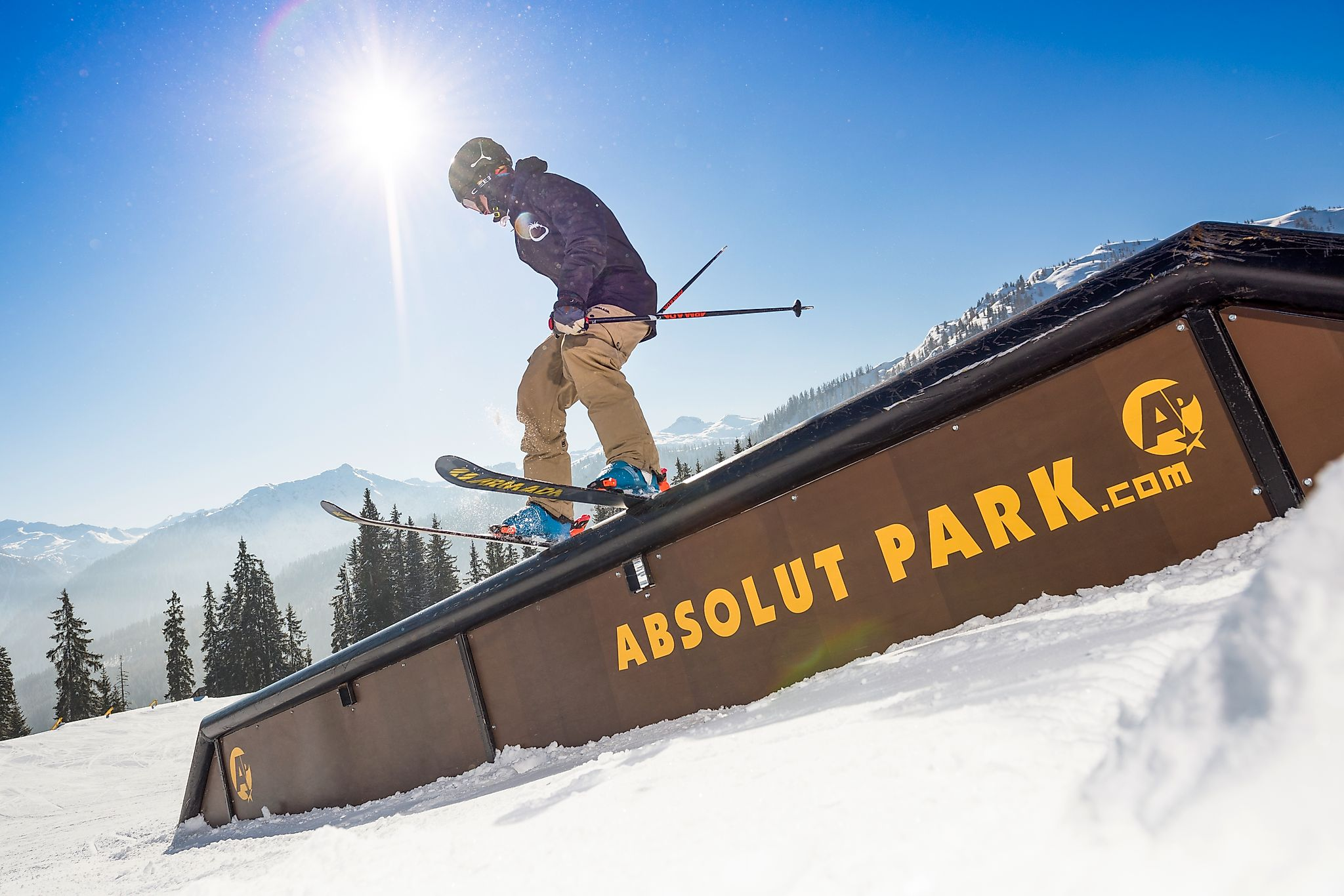 <p>The Absolutpark at Shuttleberg Flachauwinkl offers lots of obstacles for snowboarders and freeskiers.</p>