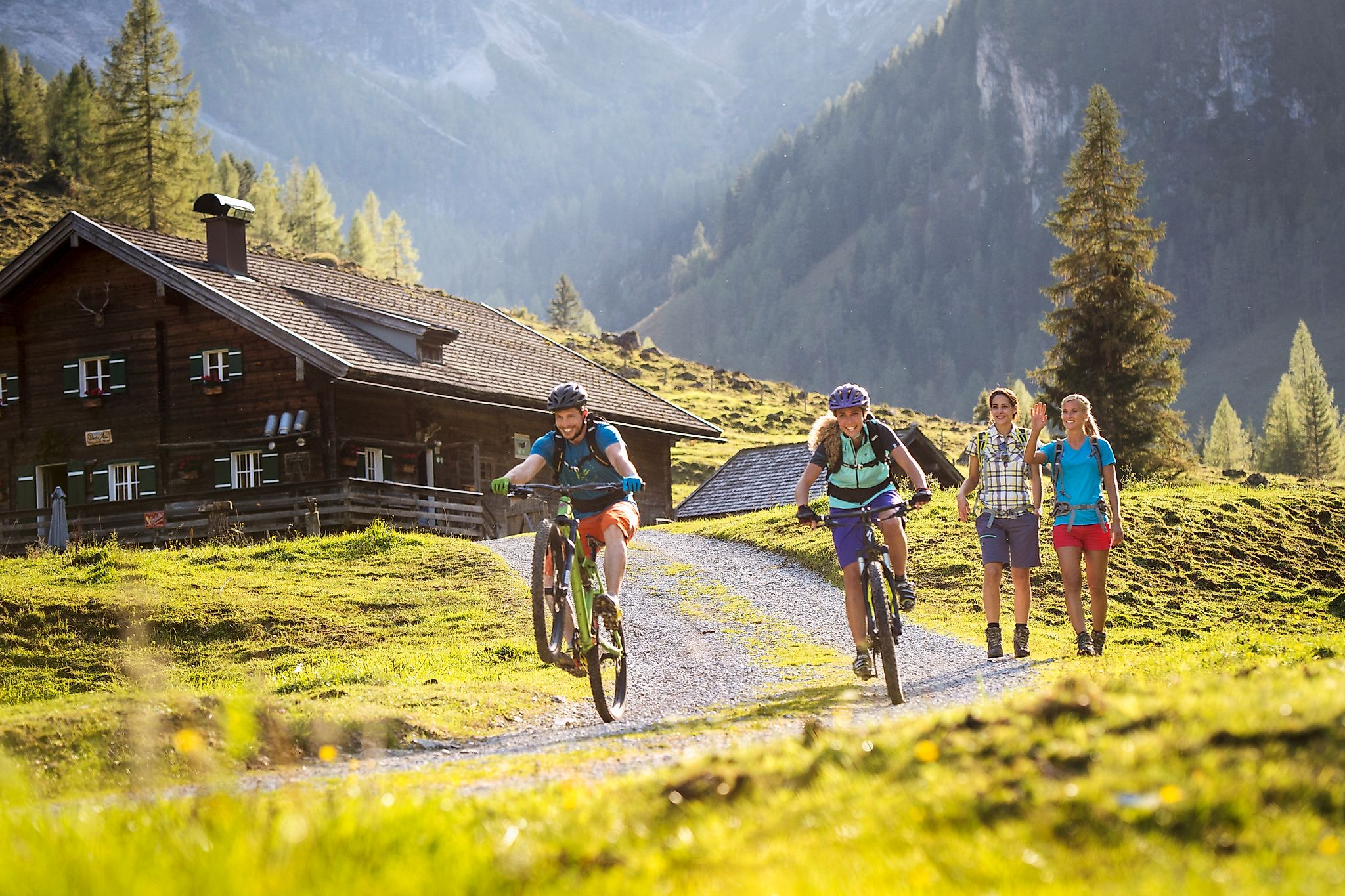 <p>Mountainbiketour mit der Freundin ins Marbachtal.</p>