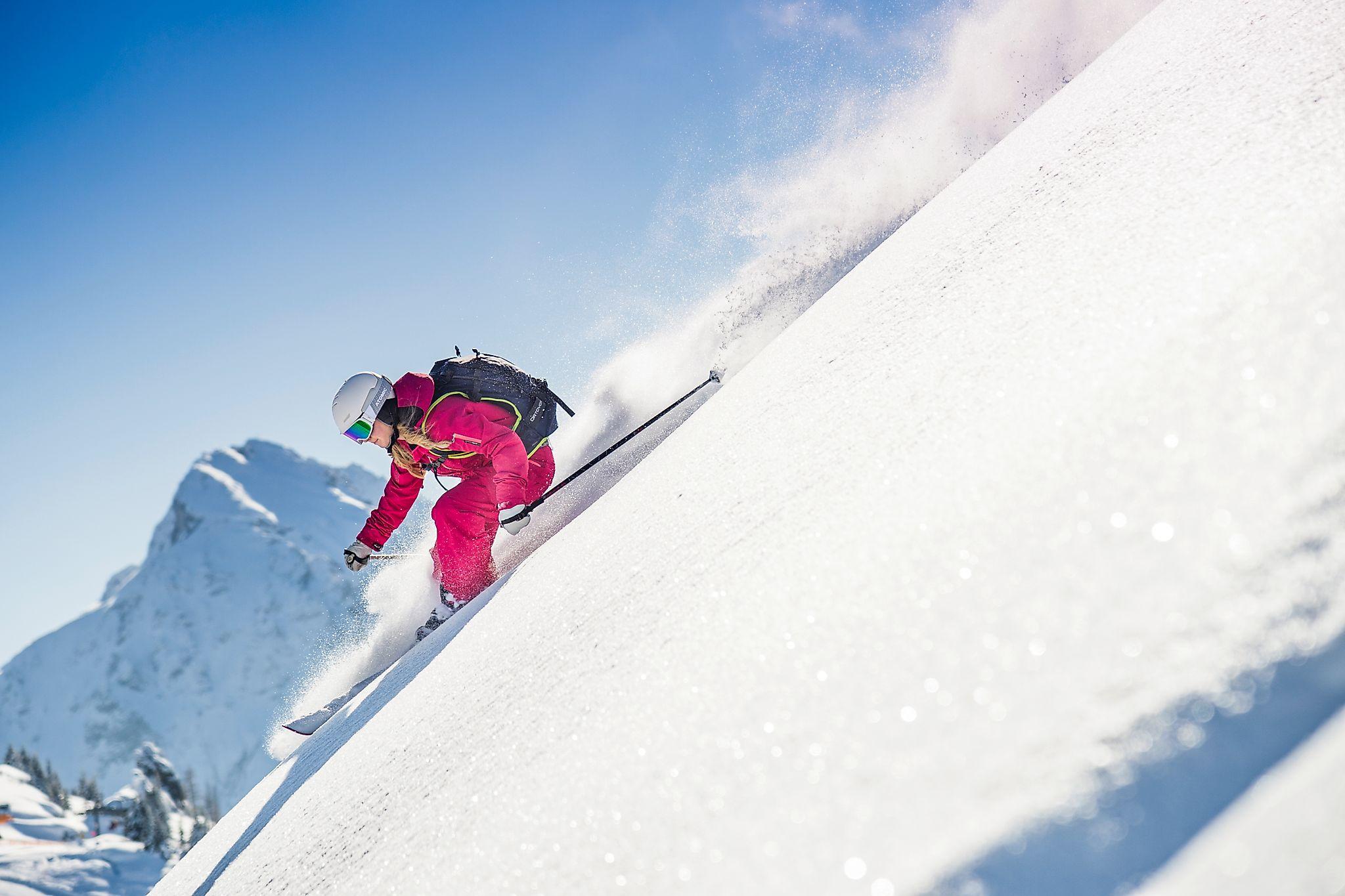 <p>Anspruchsvolle Hänge für alle Freerider bietet das Skigebiet Flachauwinkl-Zauchensee.</p>